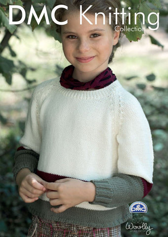 Girl's Jumper in DMC Woolly (15290L/2)-Deramores