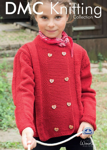 Girl's Cardigan in DMC Woolly (15292L/2)-Deramores