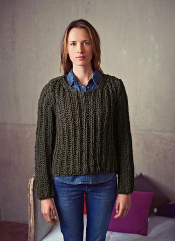 Round Neck Sweater in Bergere de France Magic+ (705.08)