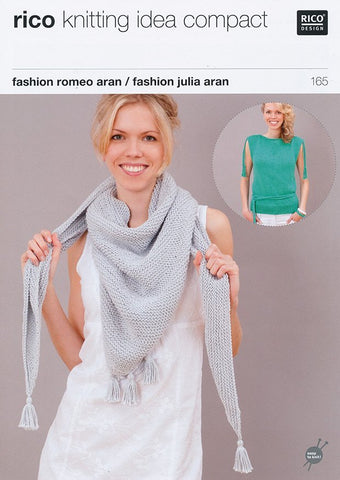 Sleeveless Top and Shawl in Rico Design Fashion Romeo Aran and Fashion Julia Aran (165)