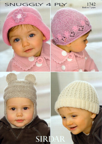 Hats in Sirdar Snuggly 4 Ply (1742)-Deramores