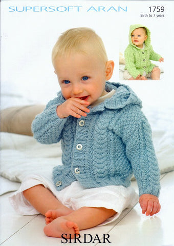 Jackets in Sirdar Supersoft Aran (1759)-Deramores