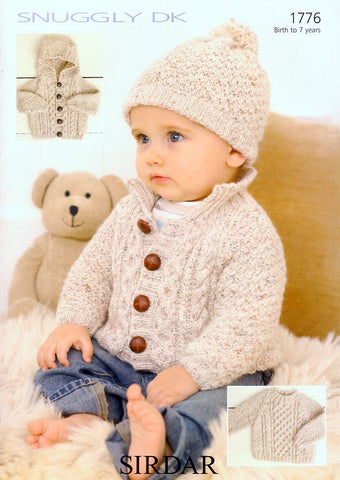 Sweater, Jacket & Hat in Sirdar Snuggly DK (1776)