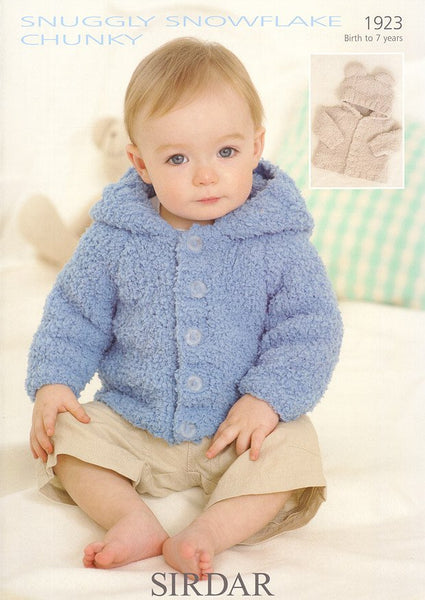 Jackets in Sirdar Snuggly Snowflake Chunky (1923)-Deramores