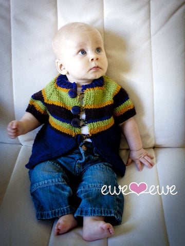 Adoracole Baby Cardigan and Hat in Ewe Wooly Worsted (205)-Deramores