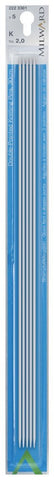 Milward Double Point Knitting Needles (Aluminium) - 30cm (set of 5)
