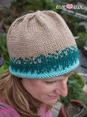 Sand and Sea Hat in Ewe Wooly Worsted (226)