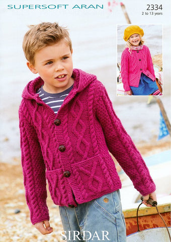 Cardigans in Sirdar Supersoft Aran (2334)-Deramores