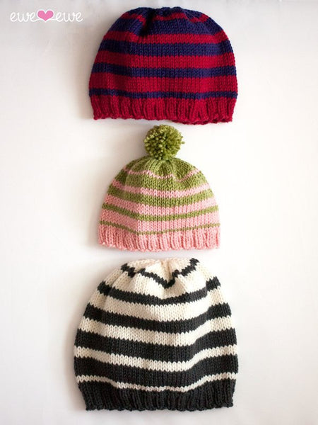 Family of Hats in Ewe Wooly Worsted (233)-Deramores