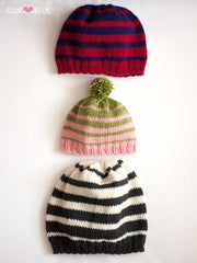 Family of Hats in Ewe Wooly Worsted (233)