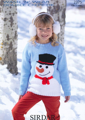 Snowman Sweater in Sirdar Wash 'n' Wear Double Crepe DK (2375)