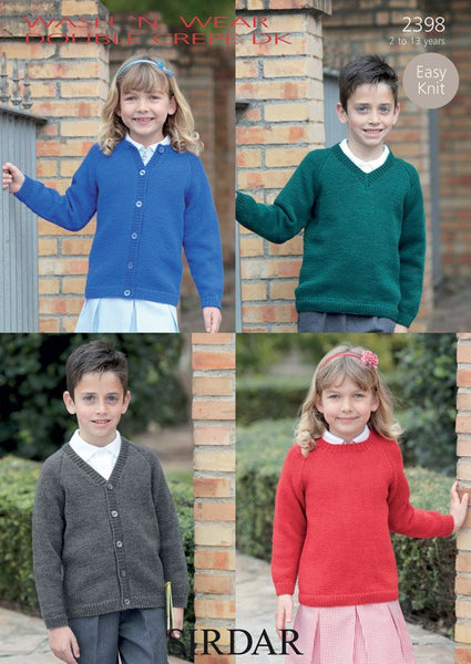 Sweaters and Cardigans In Sirdar Wash 'N' Wear Double crepe DK (2398)