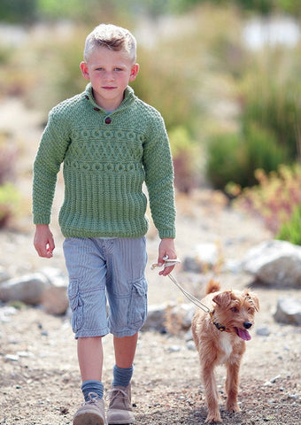 Boy's Round Neck and S.U.N Sweaters in Sirdar Supersoft Aran (2433) - Digital Version-Deramores