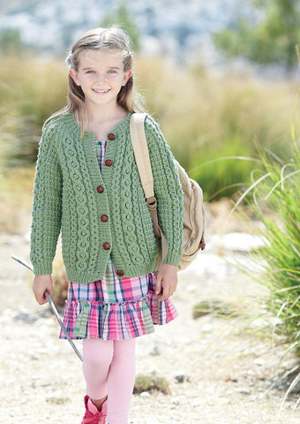 Girls Round Neck and Boys Hooded Cardigans in Sirdar Supersoft Aran (2434) - Digital Version-Deramores