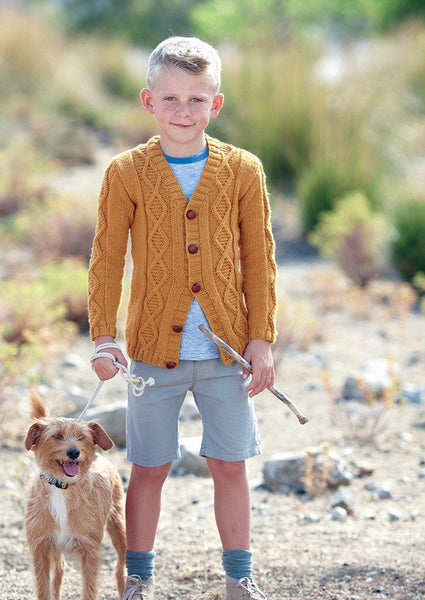 Boys V Neck Cardigan and Waistcoat in Sirdar Supersoft Aran (2435) - Digital Version-Deramores