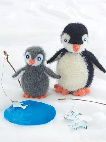 Penguins in Sirdar Ophelia and Country Style DK (2452) - Digital Version