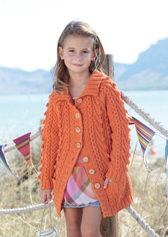 Girls Cable Jacket in Sirdar Supersoft Aran (2453) - Digital Version-Deramores