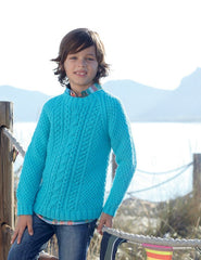Boys Cable Sweaters in Sirdar Supersoft Aran (2454)