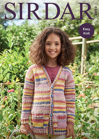 Cardigan with Pockets in Sirdar Crofter DK (2492)