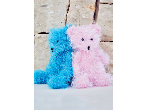 Teddy Bear in Sirdar Funky Fur (2500S)