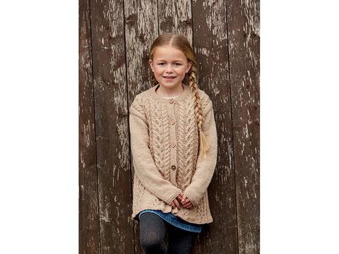 Girl's Coat in Hayfield Bonus Aran (2510S)