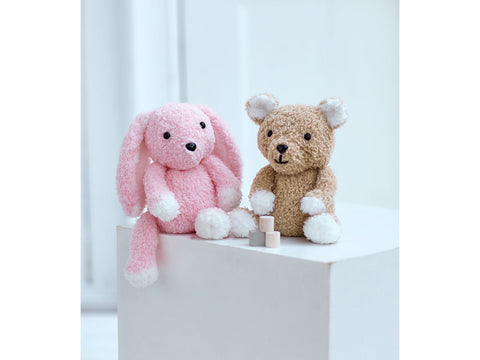 Teddy Bear and Bunny Toy in Sirdar Snuggly Bunny (2521S)
