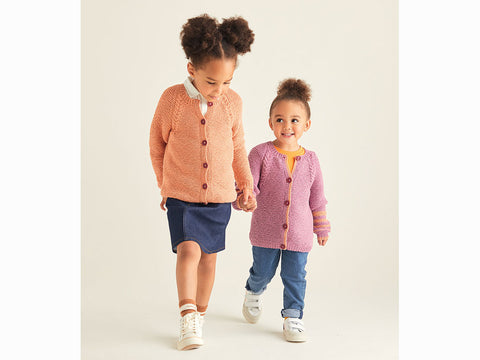 Girls Cardigans in Sirdar Snuggly Replay DK (2530S)
