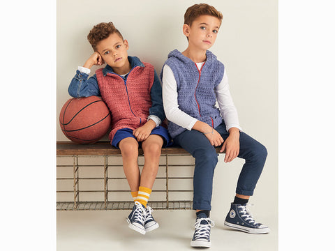 Boys Gilets in Sirdar Snuggly Replay DK (2534S)