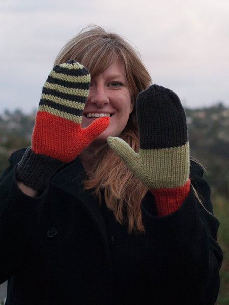 Miss Match Mittens in Ewe Wooly Worsted (256)