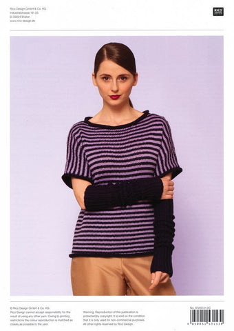 Sweater and Cuffs in Rico Design Essential Soft Merino Aran (259)