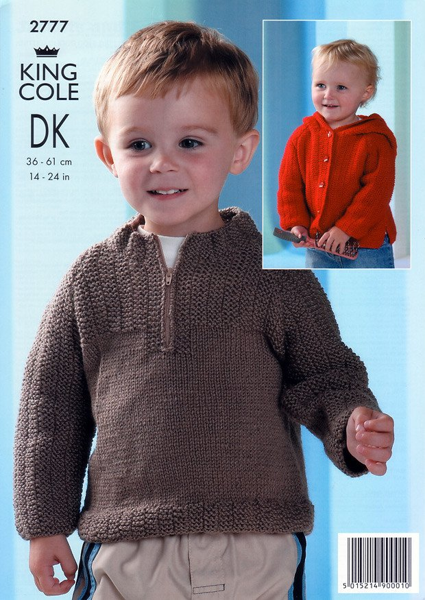 Jackets and Sweater in King Cole Merino Blend DK (2777)-Deramores
