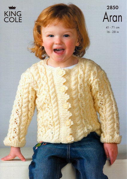 Sweater and Jacket Knitted in King Cole Fashion Aran (2850)
