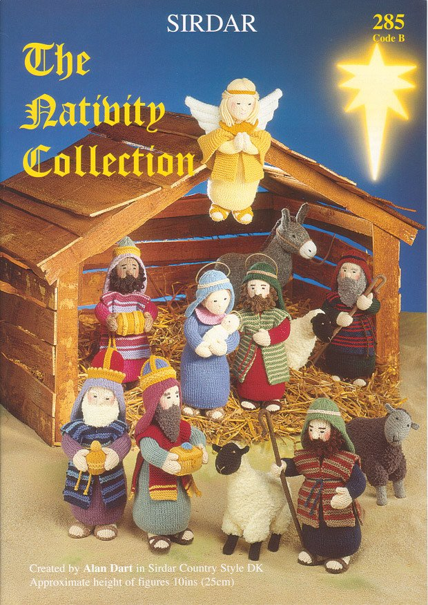 Knitting Patterns Christmas Figures : The Nativity Collection by Sirdar (285B)   Deramores