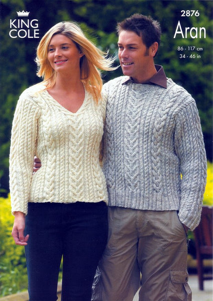Sweaters Knitted in King Cole Fashion Aran (2876)
