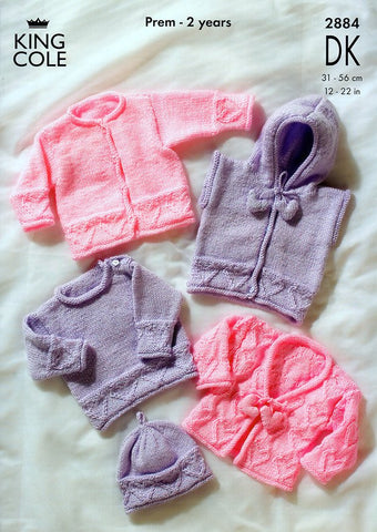 Sweater, Hoody & Cardigans in King Cole Baby DK (2884)