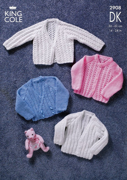 Cardigans in King Cole DK (2908)-Deramores