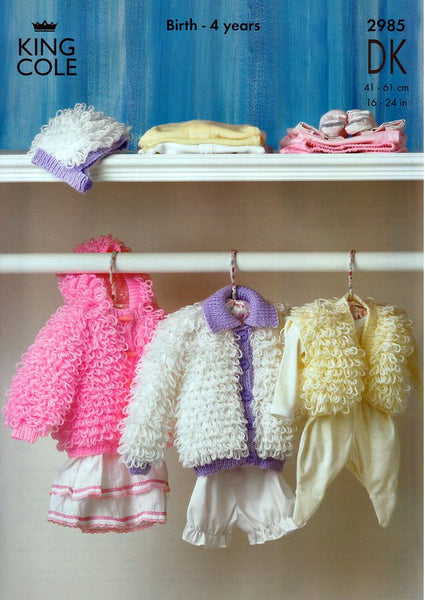Loopy Jackets, Hat and Bolero in King Cole DK (2985)-Deramores