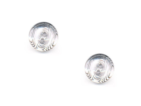 Rimmed  Round Buttons - Clear - 019