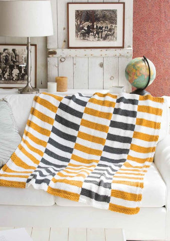 Striped Afghan Kit in Deramores Studio Chunky