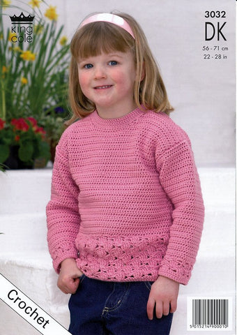 Sweater & Cardigan in King Cole Smooth DK (3032)