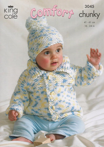 Sweater, Jacket, Bolero and Hat in King Cole Comfort Chunky (3045)