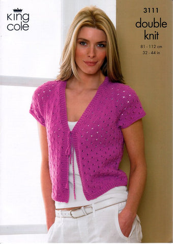 Bolero & Cardigan in King Cole Smooth DK (3111)-Deramores