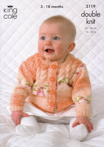 Sweater, Cardigan, Hat and Scarf in King Cole Splash DK (3119)