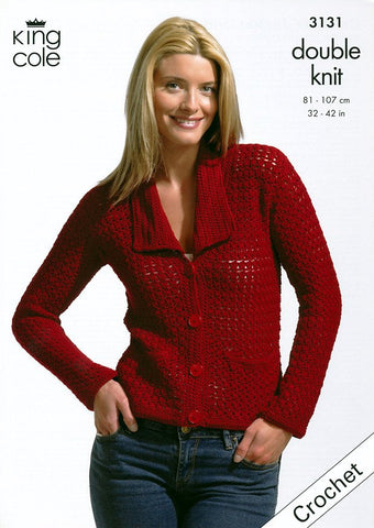 Crochet Jacket and Top in King Cole Bamboo Cotton DK (3131)-Deramores