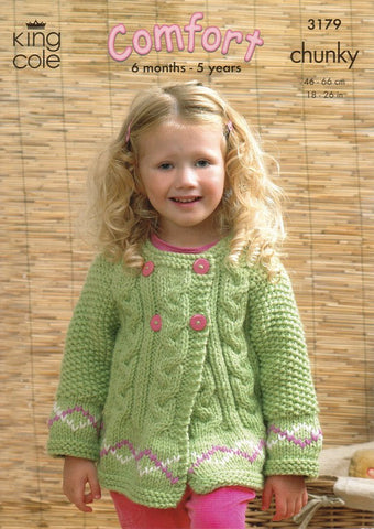 Sweater and Jackets in King Cole Comfort Chunky (3179)