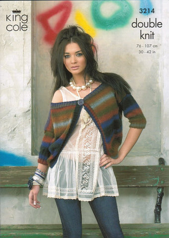 Cardigan and Top in King Cole Riot DK (3214)-Deramores