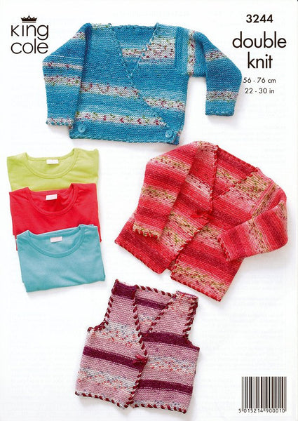 Cardigans in King Cole Splash DK (3244)-Deramores