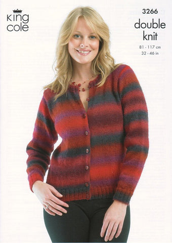 Cardigans in King Cole Riot DK (3266)-Deramores