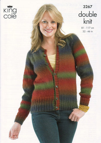 Sweater and Cardigan in King Cole Riot DK (3267)