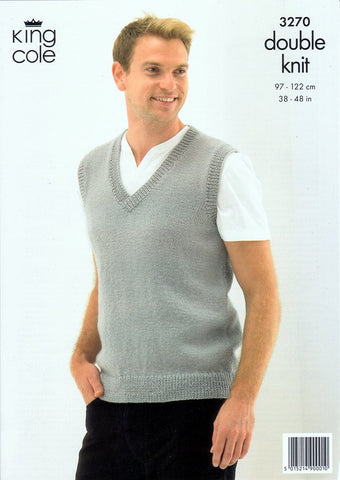 Slipover and Waistcoat in King Cole Merino Blend DK (3270)